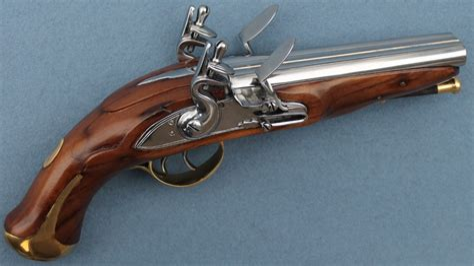 Double Barrel Flintlock Shotgun With Bayonet