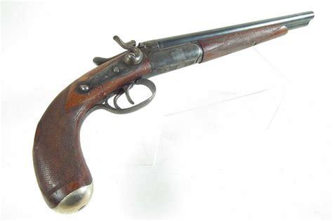 Double Barrel Sawed Off Muzzleloader Shotgun