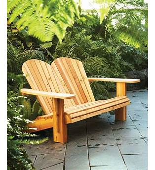 Double Adirondack Chair Woodworking Plans