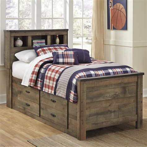 Double bed under storage Image