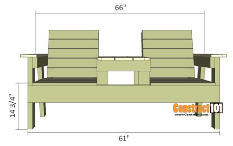 Double bench chair plans Image