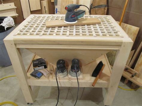 Downdraft table woodworking Image
