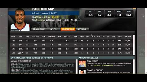 Draftkings Lineup For Nba Finals