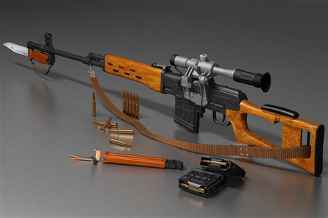 Dragunov Sniper Rifle Long Range Shooting