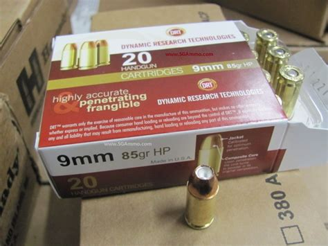 Drt 9mm 85 Grain Frangible Hollow Point Ammo