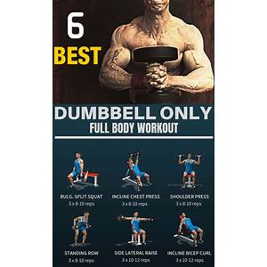 Dumbbell routines and exercises technique