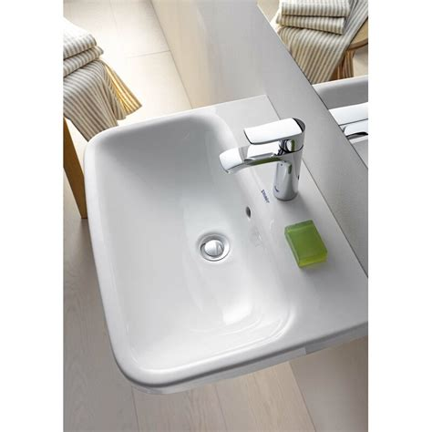 "DuraStyle Ceramic 24"" Wall Mount Bathroom Sink with Overflow"