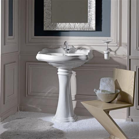DuraStyle Ceramic Rectangular Pedestal Bathroom Sink with Overflow