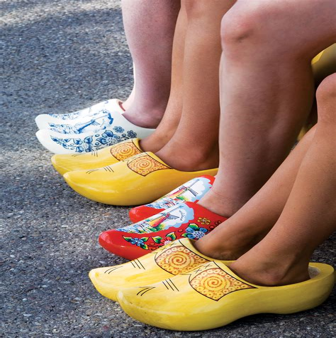 Dutch wooden shoe making Image