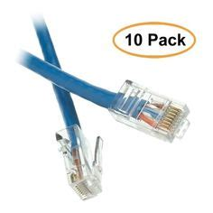 eDragon 50' Shielded Cat5e Gray Ethernet Cable, Snagless/Molded Boot, Pack of 2 (ED696801)