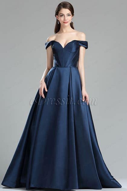 9bc1dc4f ≈® Review Edressit Dark Blue Off The Shoulder V Cut Puffy Prom Dress