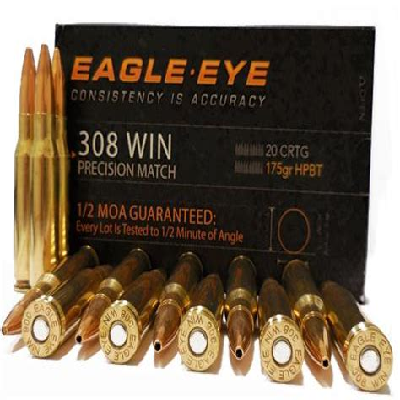 Eagle Eye Precision 308 Winchester Ammo 175 Grain Hpbt