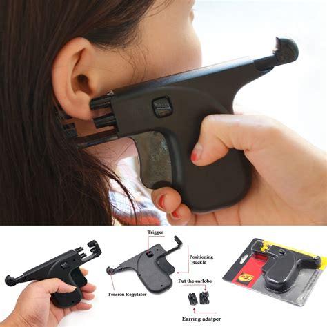 Gun-Store Ear Piercing Gun At A Jewelry Store.