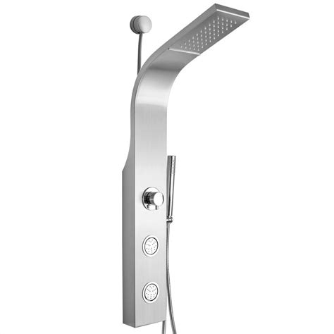 Easy Connect Shower Panel with Rainfall Waterfall Shower Head and Handshower