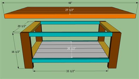 Easy to build coffee table plans Image