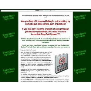 Easyquit systemtm stop smoking program; learn how to quit smoking for good tutorials