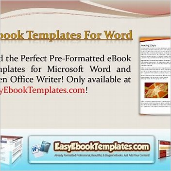 Ebook Templates For Microsoft Word & Open Office Cheapest Download