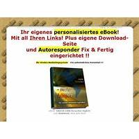 Ebook nur mit ihren links webseite autoresponder fix & fertig ! specials