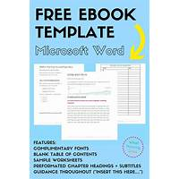 Ebook templates for microsoft word & open office inexpensive