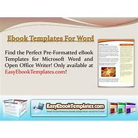 Ebook templates for microsoft word & open office step by step