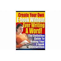 Ebook without writing tips