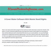 Ecover maker sofware with master resell rights promo codes