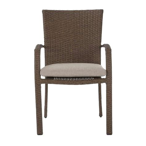 Edwards Stacking Patio Dining Chair with Cushion (Set of 6)
