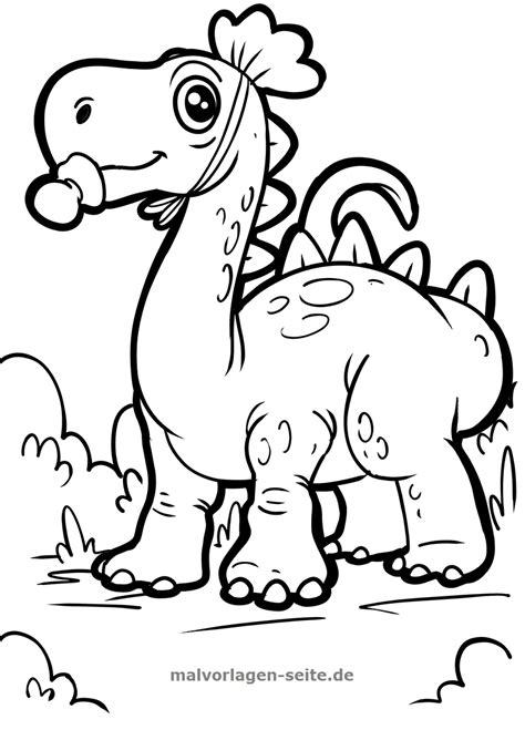 Einfache Malvorlage Dinosaurier