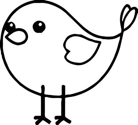 Einfache Malvorlage Vogel