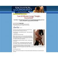 Best ejaculation by command: hot offer for lasting longer in bed