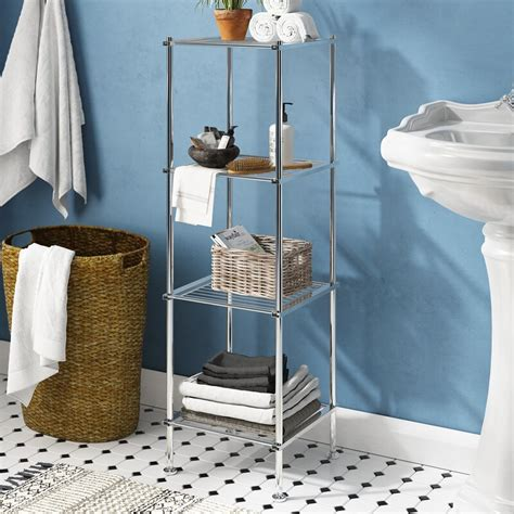 "Elene 13"" W x 41.13"" H Bathroom Shelf"