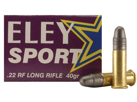 Eley Sport Ammo 22 Long Rifle 40 Grain Lead Round Nose Box
