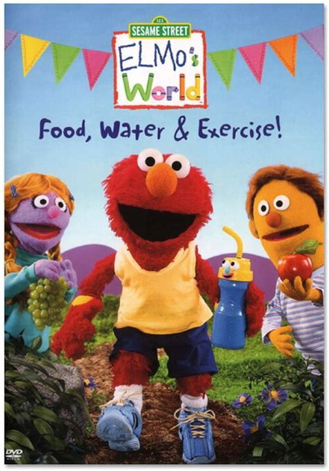 elmo world food water exercise