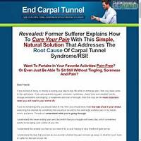 End carpal tunnel cure cts rsi with the only true cure promotional codes