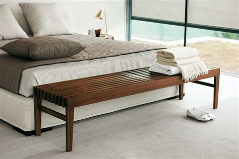 End of bed wooden bench Image