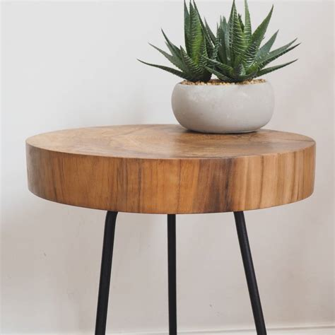 End Table Tree Trunk Image