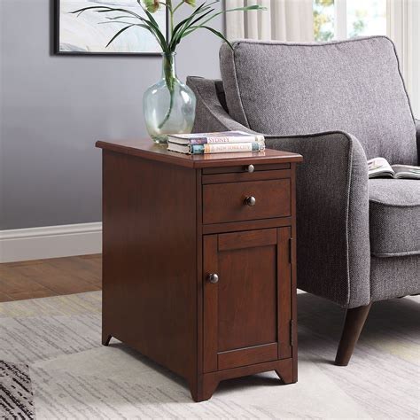 End Table With Drawers And Charging Station Image