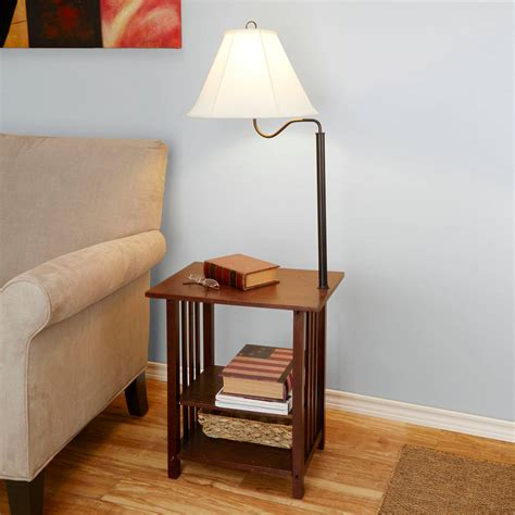 End Tables With Lamps Attached Image