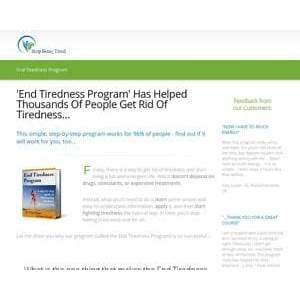 'end tiredness program' has helped thousands of people get rid of tiredness? stop being tired review