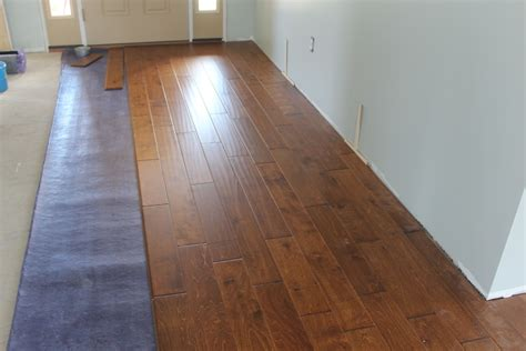 Engineered flooring over concrete Image