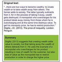 English simplifying & summarizing tool using basic english comparison