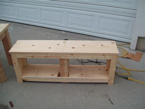 Entryway bench plans Image