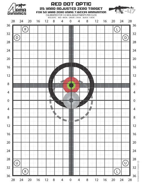 Eotech 50 Yard Zero Target