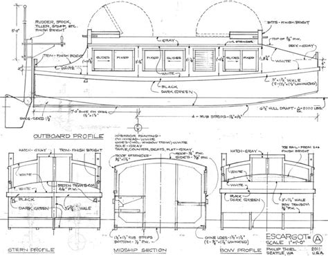 escargot canal boat plans