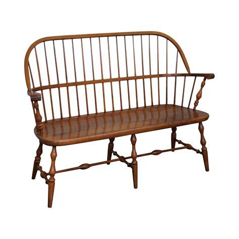 Ethan allen wooden bench Image