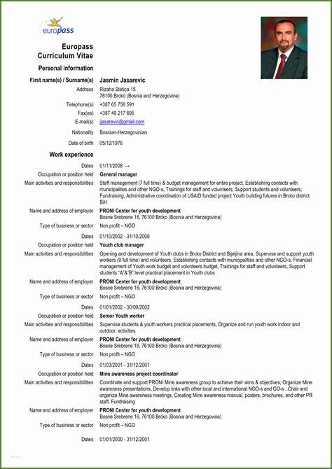 Europass Lebenslauf Deutsch Online Invitation Letter For Visa
