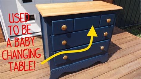 Ex baby changing table dresser makeover Image
