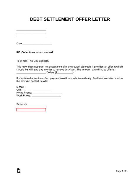 Example Settlement Letter Legal