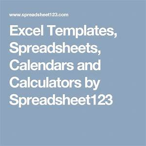Buy excel templates, spreadsheets, calendars and calculators by spreadsheet123
