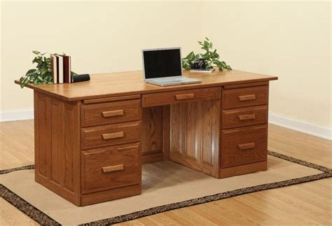 Executive office desk woodworking plans Image